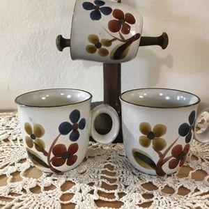 3 Noritake Stoneware Mug Set